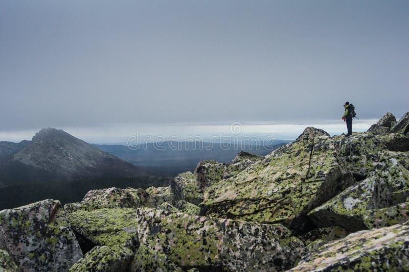 Paysages de montagne en parc national Taganai images libres de droits