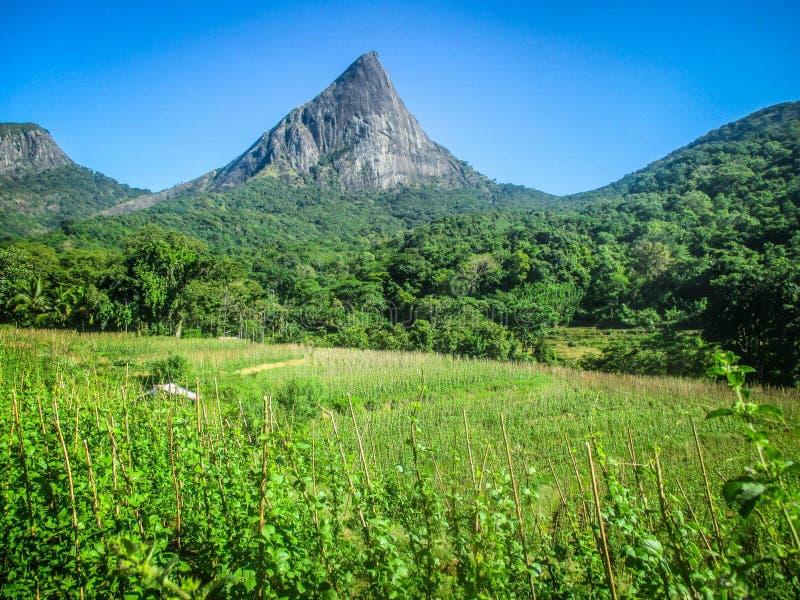 La montagne de Lakegala est dans le village de Meemure, Sri Lanka photographie stock