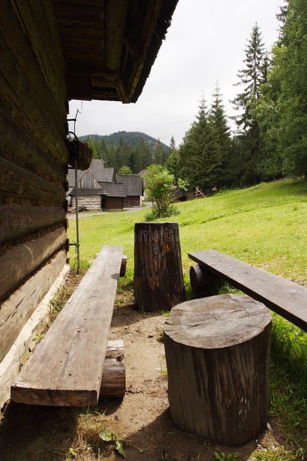 La montagne Willage photographie stock libre de droits