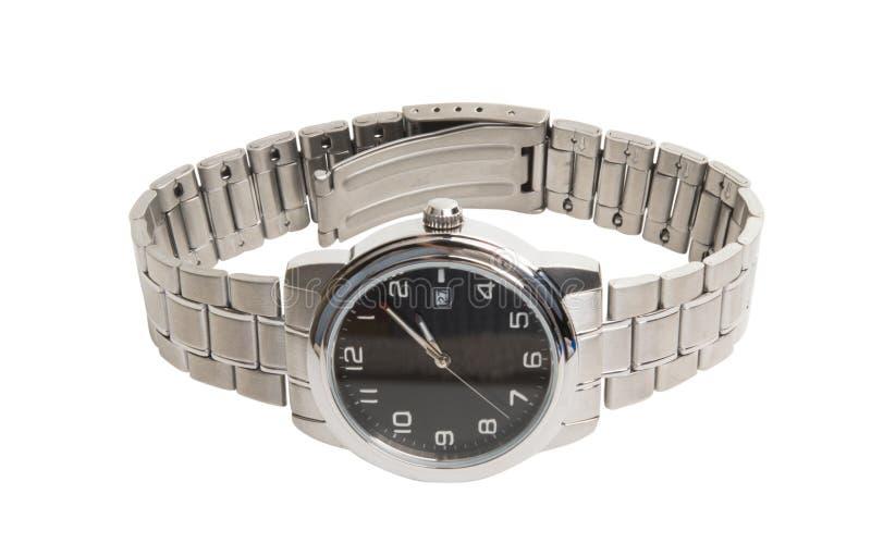 la montre-bracelet des hommes d'isolement photos stock