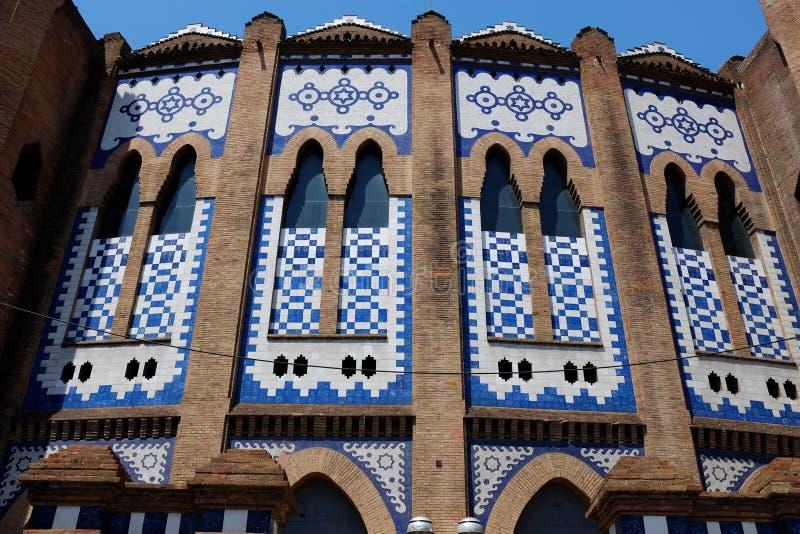 La Monumentaal - Stieregevechtarena - Barcelona royalty-vrije stock foto
