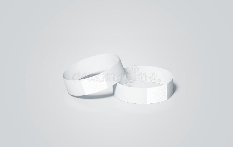 La moquerie vide de bracelets de livre blanc se lève, le rendu 3d illustration de vecteur