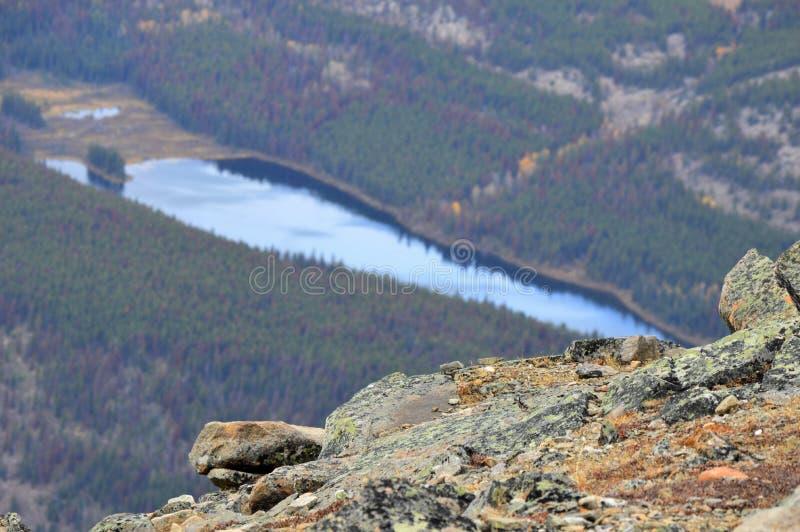 La moraine de lac est très jolie images stock