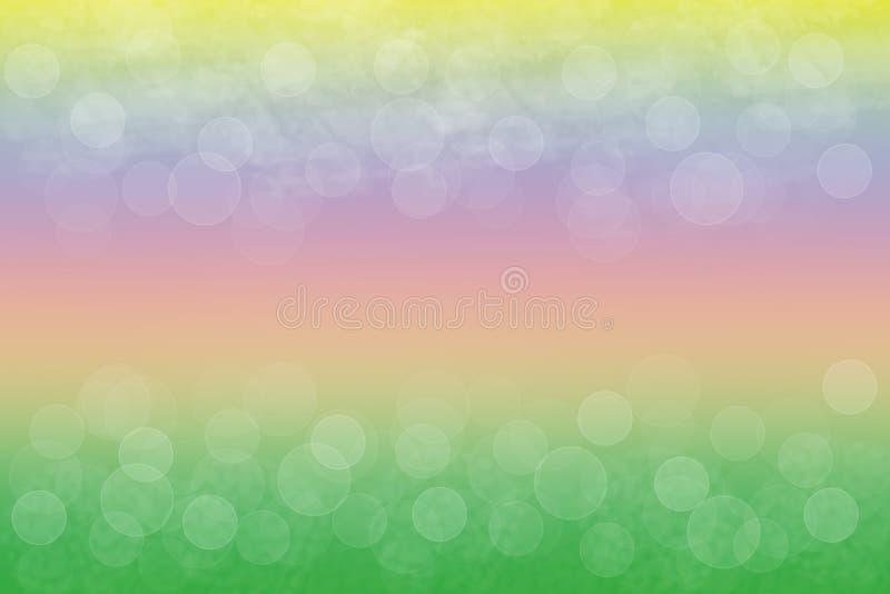 La morbidezza astratta ha colorato la pendenza dell'arcobaleno con le luci del bokeh delle bolle royalty illustrazione gratis