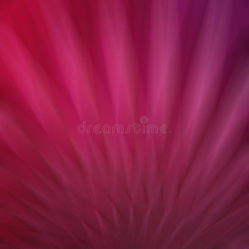 La morbidezza astratta ha offuscato il fondo rosa con le linee e le bande nel modello dello starburst o del fan, fondo abbastanza royalty illustrazione gratis