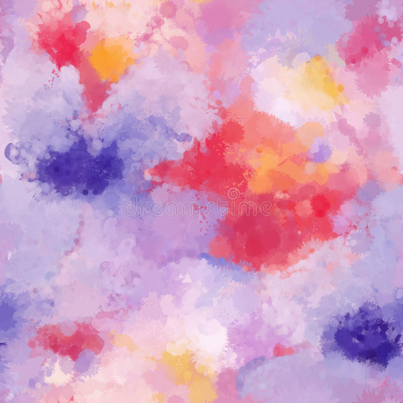 La morbidezza organica senza cuciture del fondo dell'acquerello ha colorato il modello nel vettore illustrazione vettoriale