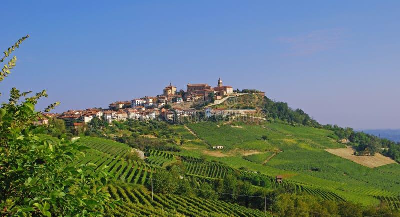 La Morra in Piedmont royalty free stock image