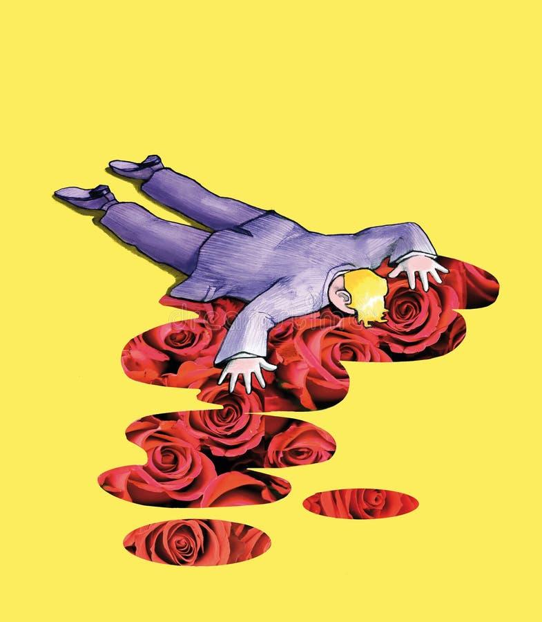 La mort d'un poète illustration stock
