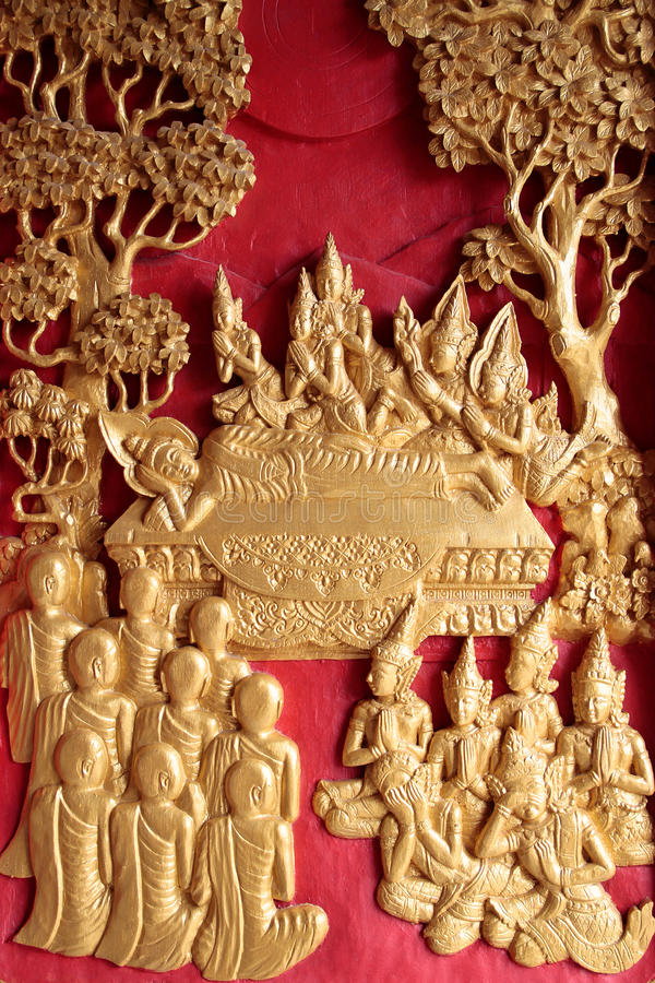 La mort de Bouddha photo libre de droits