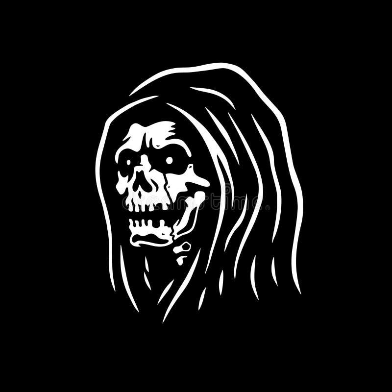 LA MORT DE CRÂNE DE FAUCHEUSE illustration stock