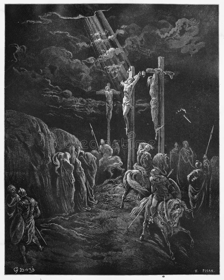 La mort de Jésus illustration de vecteur