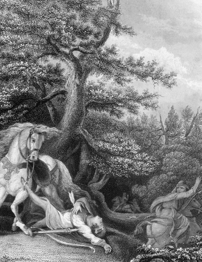 La Mort De William Rufus Photo éditorial