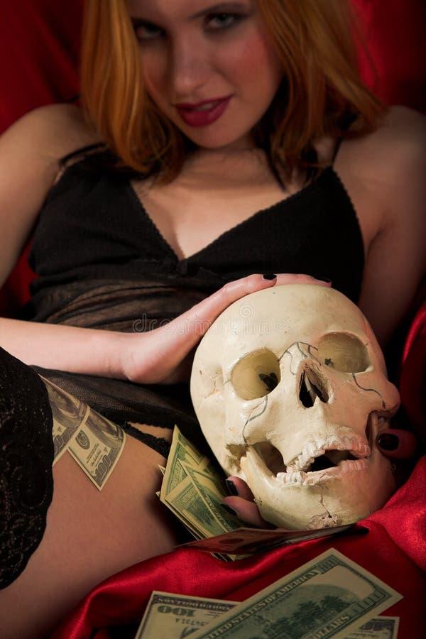 La mort et argent photos stock