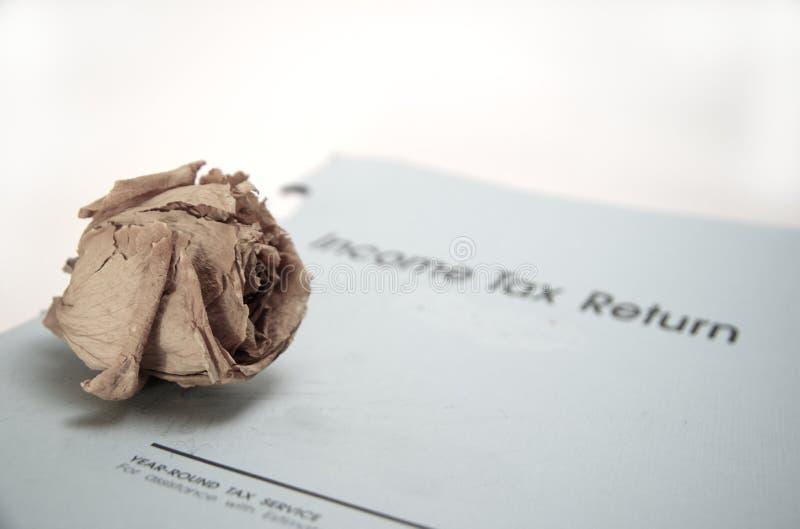 La mort et impôts image libre de droits