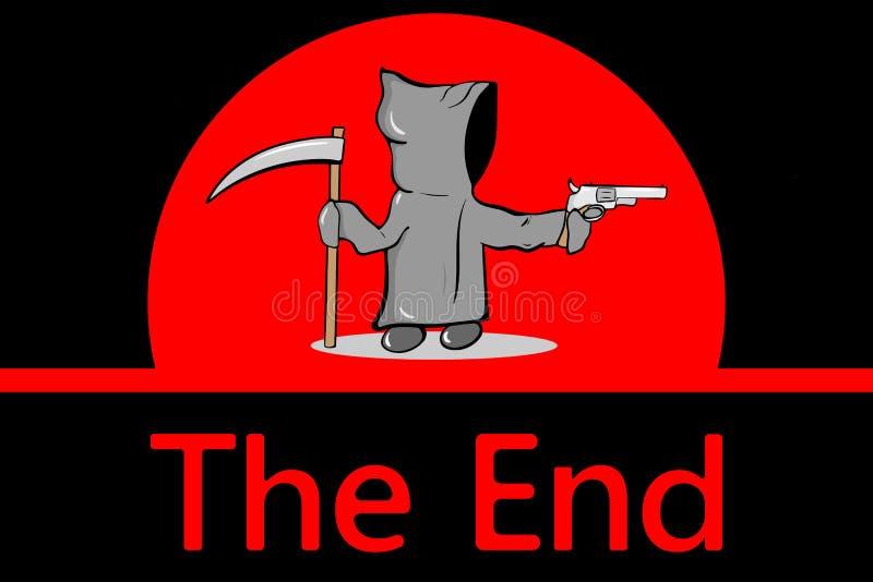 La mort et rouge l'extrémité illustration de vecteur