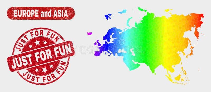 La mosaïque l'Europe et Asie de spectre tracent et ont rayé juste pour le joint d'amusement illustration libre de droits
