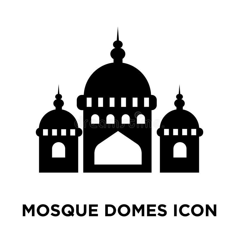 La moschea copre con una cupola il vettore dell'icona isolata su fondo bianco, logo concentrato illustrazione di stock