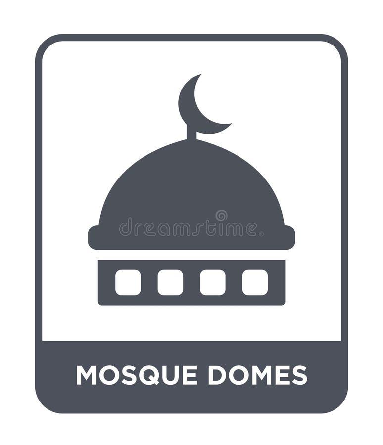 la moschea copre con una cupola l'icona nello stile d'avanguardia di progettazione icona delle cupole della moschea isolata su fo royalty illustrazione gratis