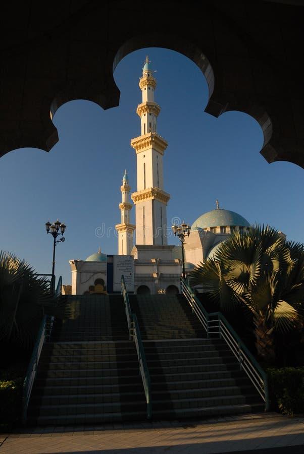 La moschea del territorio federale o il Masjid Wilayah Persekutuan fotografia stock libera da diritti