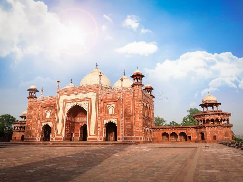 La moschea di Taj Mahal Complex, Agra, India fotografia stock libera da diritti
