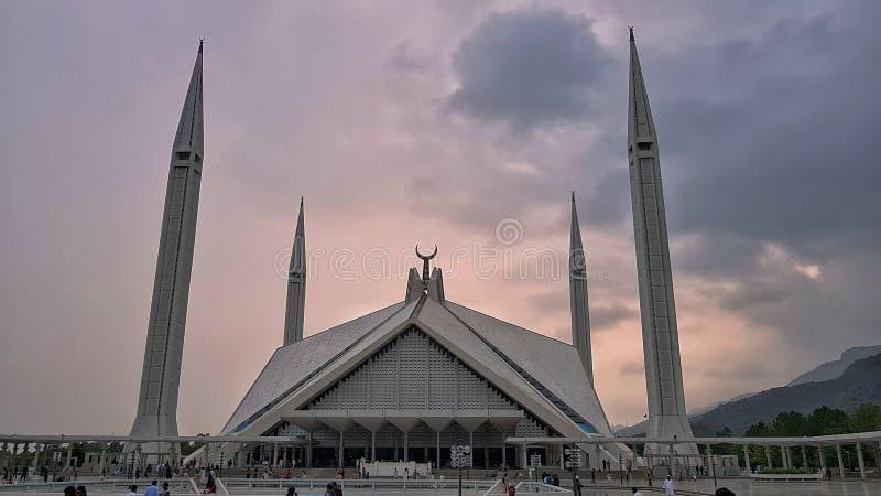 La moschea faisal immagini stock