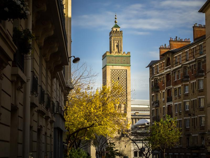 La moschea famosa di Parigi immagini stock libere da diritti