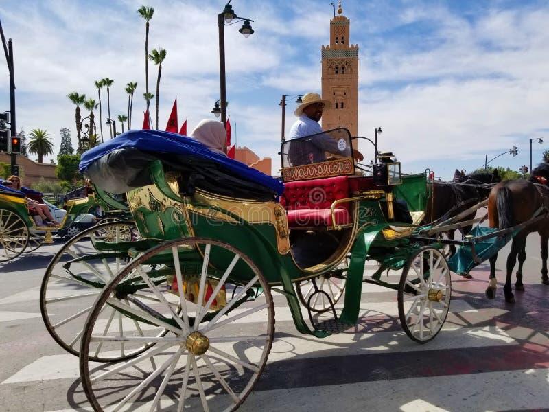 La moschea Marrakesh, Marocco di Koutoubia è il monumento visitato fotografie stock libere da diritti