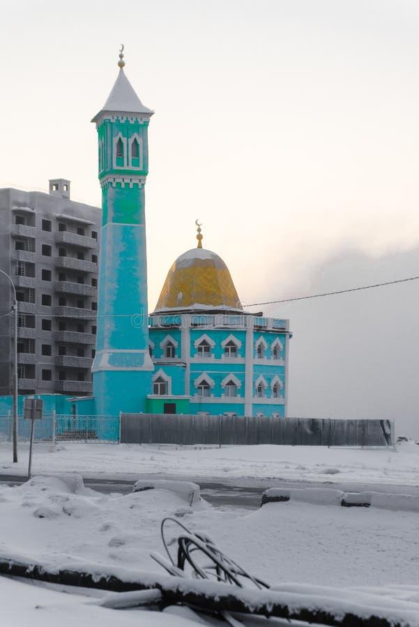 La moschea più northernmost in Noril'sk, Federazione Russa fotografia stock