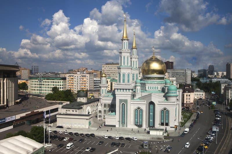La moschea principale di Mosca, una di più grande e più alta moschea fotografia stock libera da diritti
