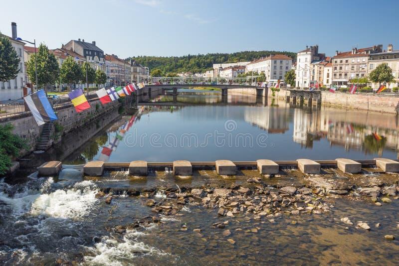 La Moselle au pont de Clemenceau photos stock
