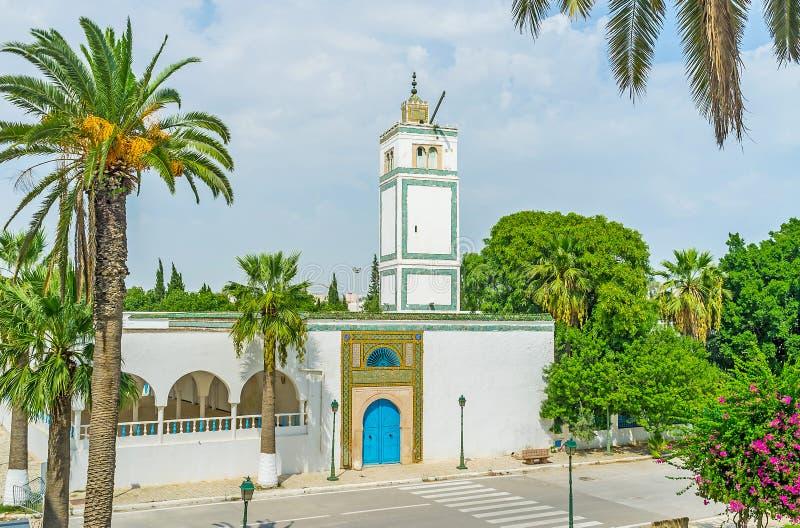 Download La mosquée blanche photo stock. Image du construction - 77161514