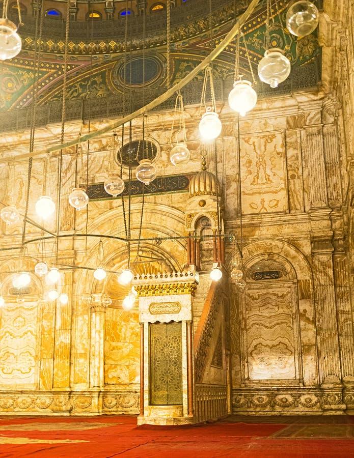 La mosquée d'albâtre photos stock