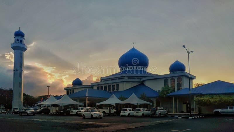 La mosquée d'Ar-Raudah Lahad Datu images stock