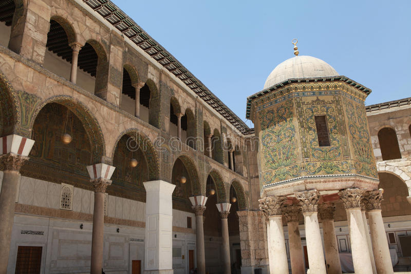 La mosquée d'Umayyad, Damas. images libres de droits