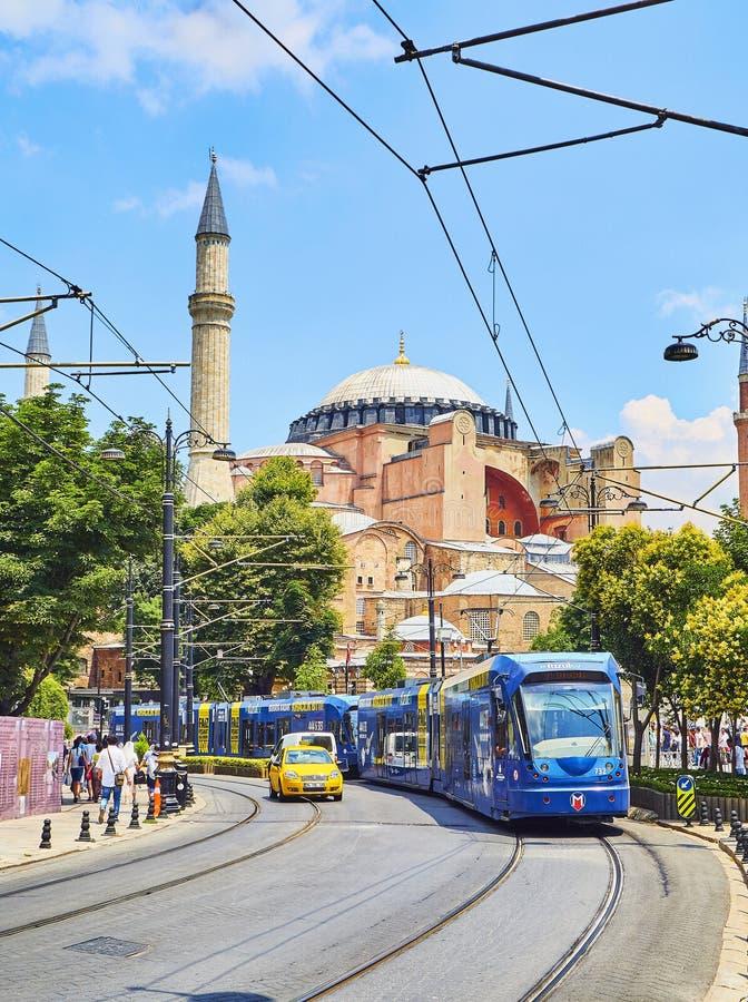 La mosquée de Hagia Sophia à la lumière du jour Istanbul, Turquie photos libres de droits