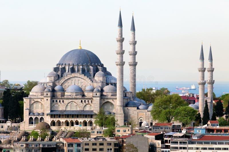 La mosquée de Suleymaniye Camii au centre d'Ista image libre de droits