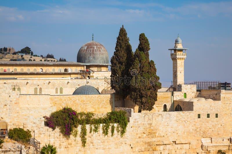 La mosquée du calife Omar et de son minaret photographie stock