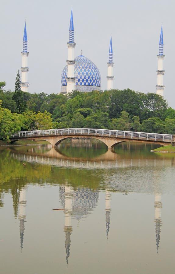 La mosquée principale dans Shah Alam photos libres de droits