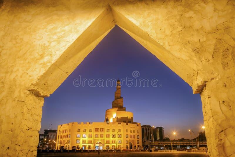 La mosqu?e de Fanar dans Doha image stock