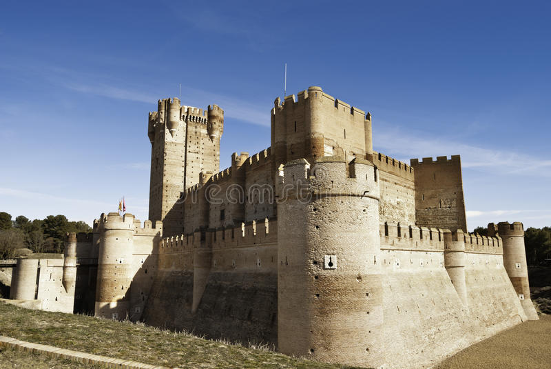 La Mota - castelo velho em Medina del Campo, Spain fotografia de stock