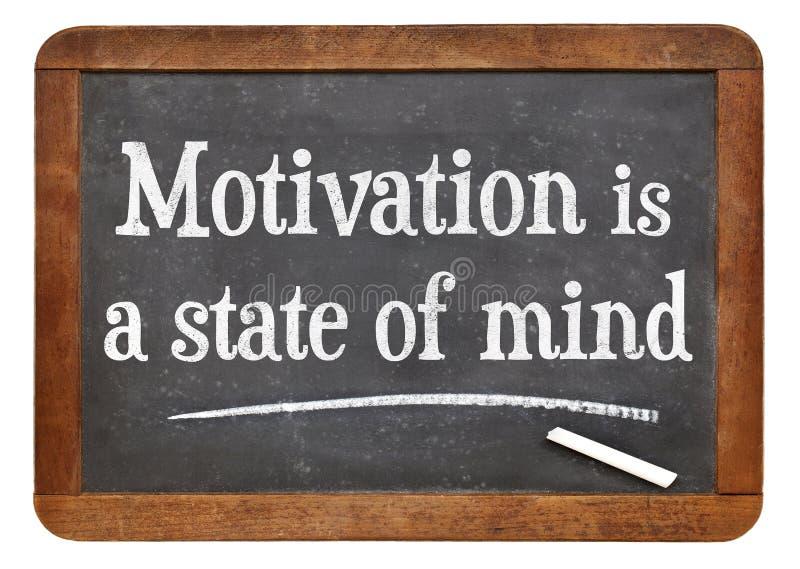 La motivación es un estado de ánimo imagenes de archivo
