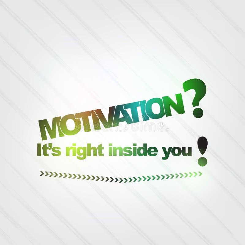 La motivación está en usted stock de ilustración