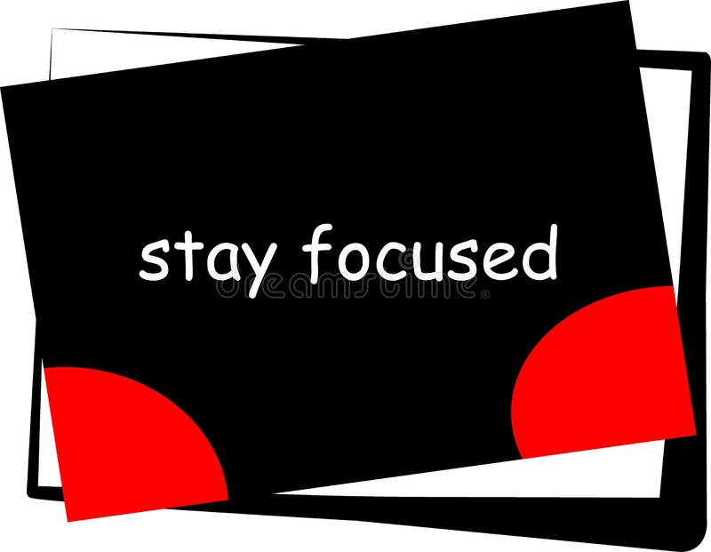 La motivation et la citation inspirée pendant notre vie ont focalisé votre travail illustration de vecteur
