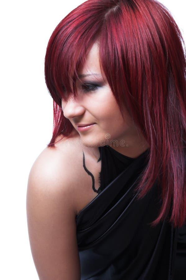 La muchacha con el pelo rojo fotos de archivo