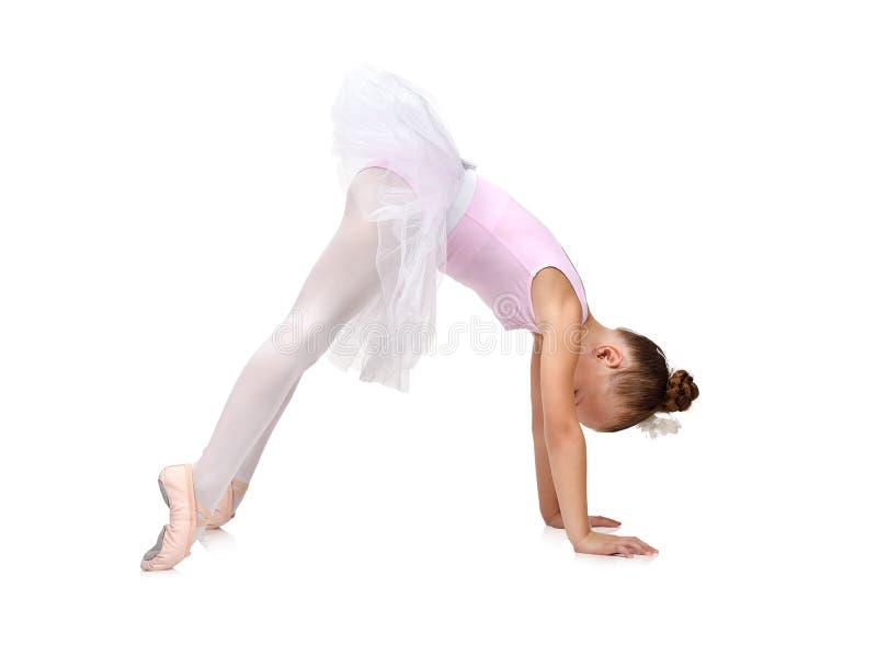 La muchacha de la bailarina se prepara para el funcionamiento imagenes de archivo