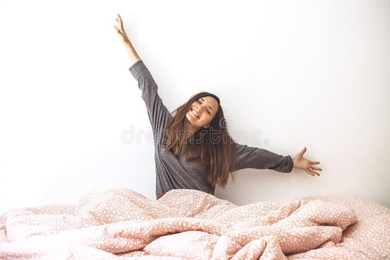 La muchacha despertó imágenes de archivo libres de regalías