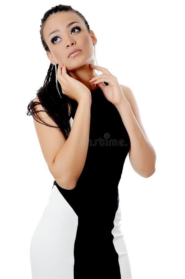 La muchacha el mulato con un maquillaje hermoso imagen de archivo