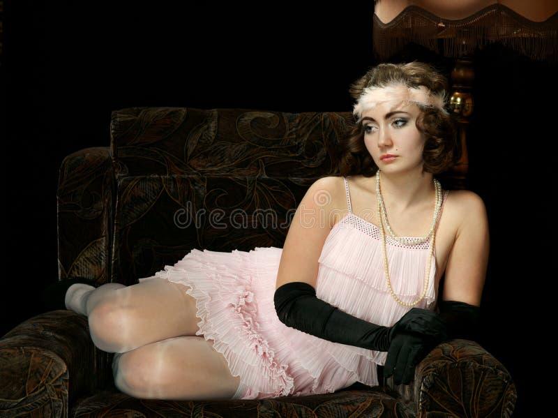 La muchacha en el estilo 30 imagen de archivo libre de regalías