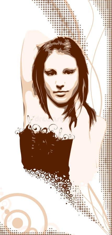 La muchacha en un fondo fotografía de archivo