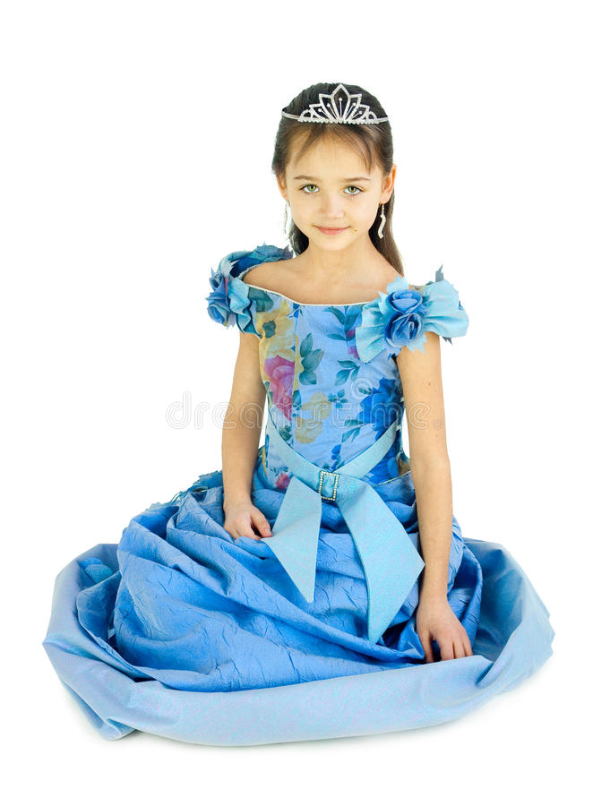 La muchacha en una alineada de la princesa fotos de archivo libres de regalías